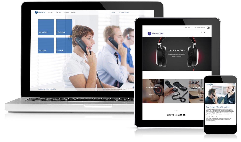Horst Platz Kommunkationslösungen Webseiten Übersicht